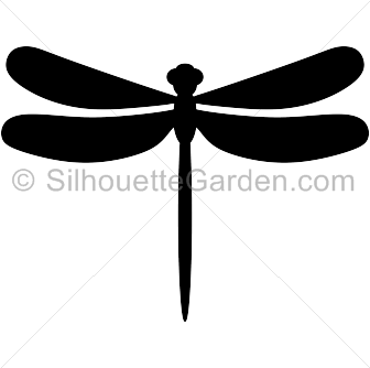 graphic free Silhouette clip art download. Dragonfly clipart