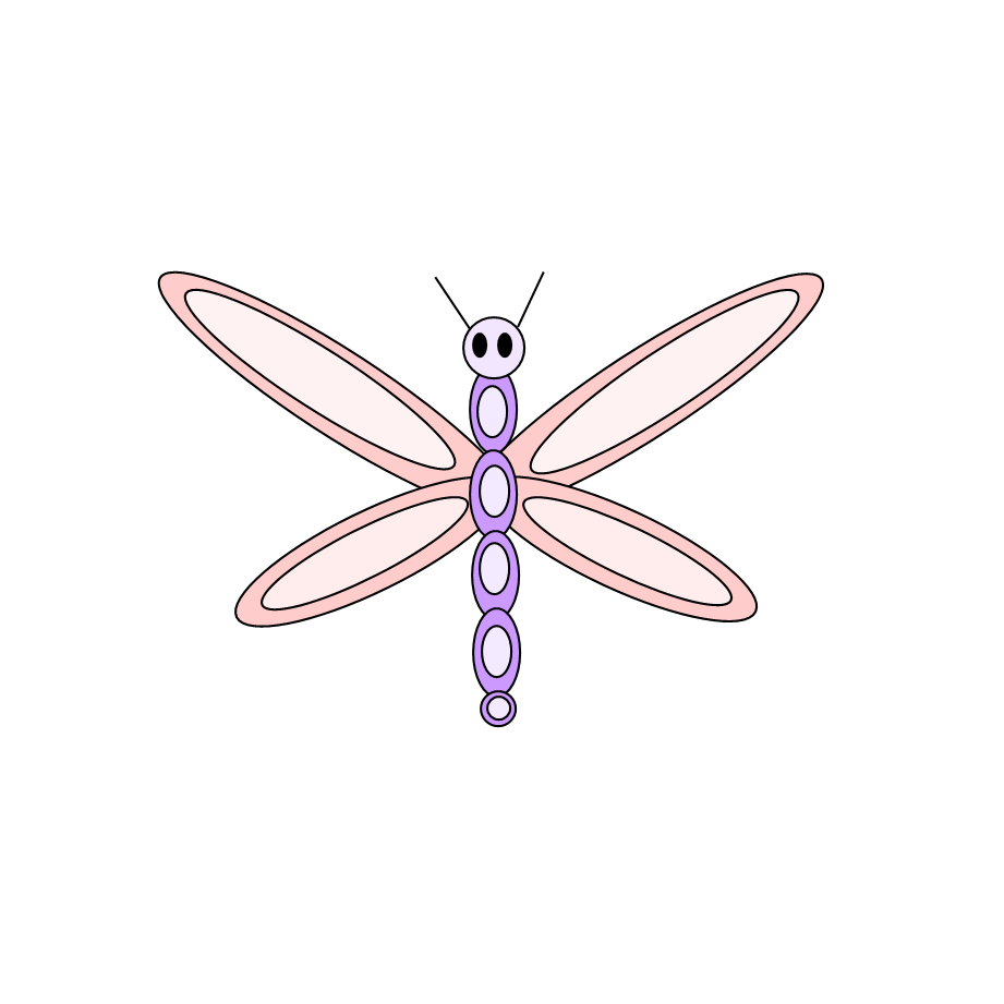 picture freeuse stock Vintage pencil and in. May clipart dragonfly.