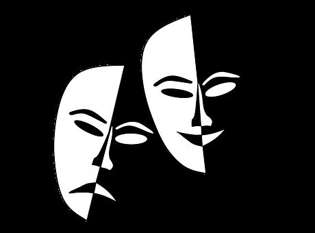 vector library library Drama Masks Drawing at GetDrawings