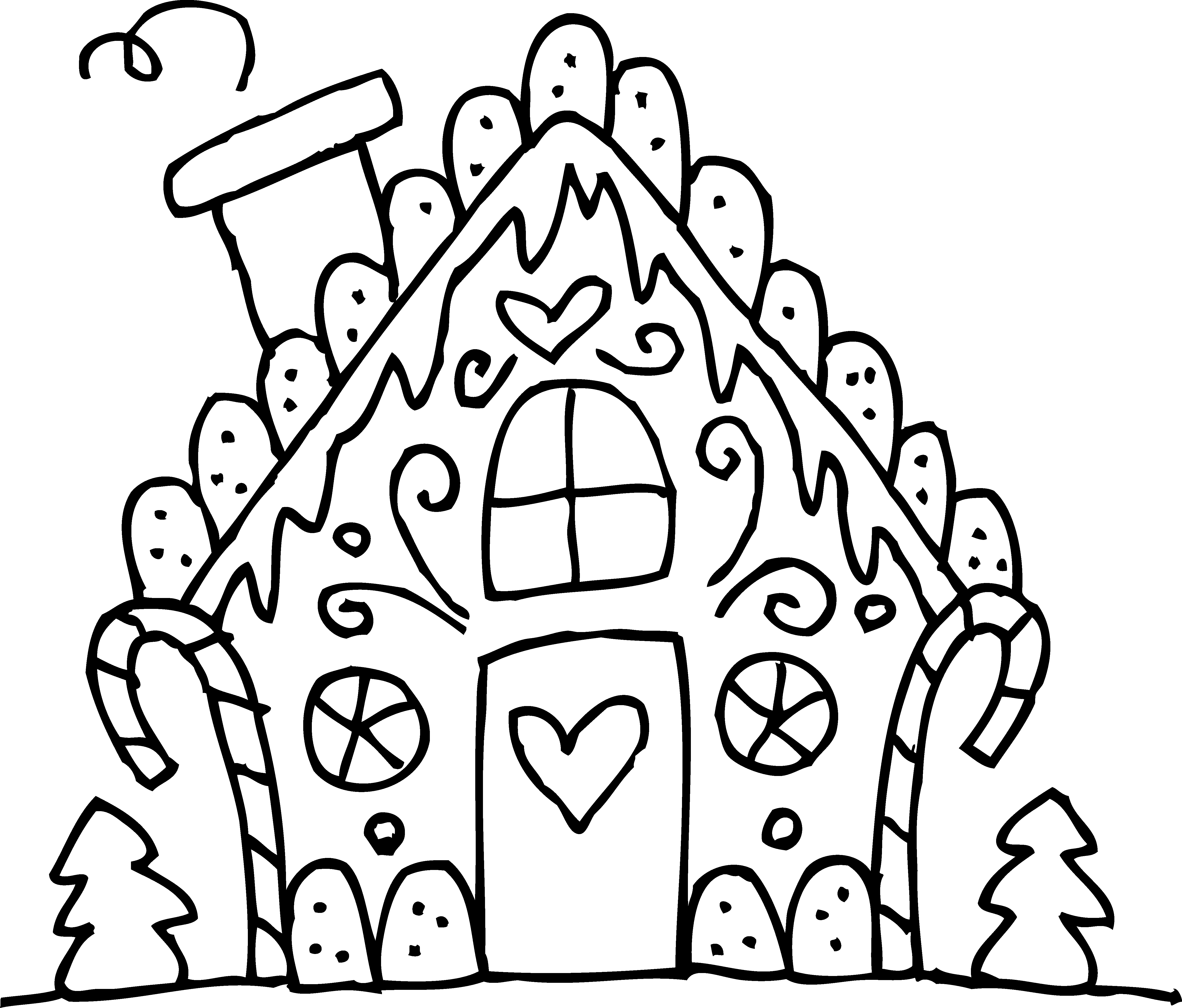 clipart freeuse library House Line Drawing Clip Art at GetDrawings