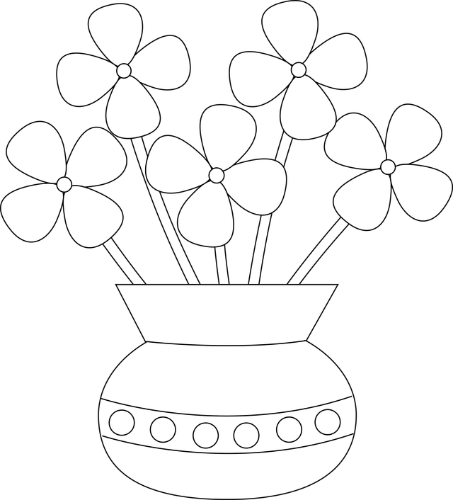 png free How To Draw Flowers In A Vase pattern flower vase clipart clipart