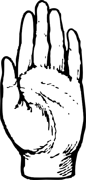 clip black and white download Palm Of Hand Drawing at GetDrawings