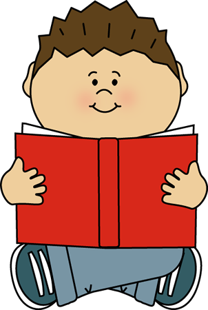 clip freeuse download Writer clipart quietly. Kid reading alone clip