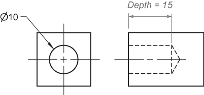 clip freeuse stock Dimensioning and locating simple. Drawing dimensions hole