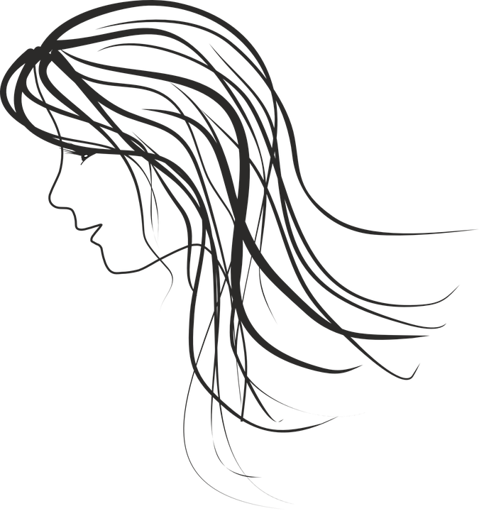 banner library Woman at getdrawings com. Drawing portrait outline