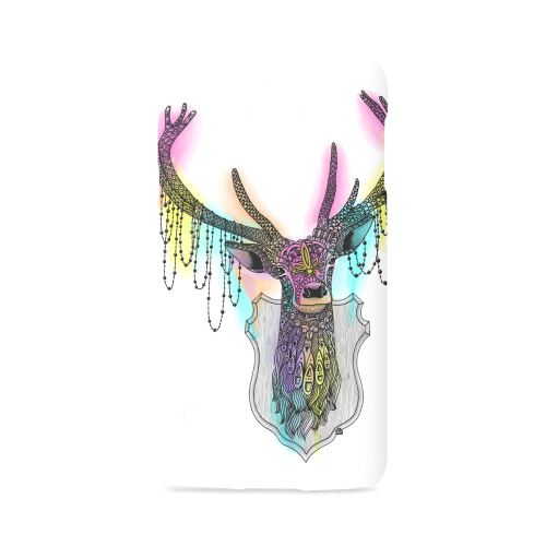 graphic black and white stock Watercolor deer head