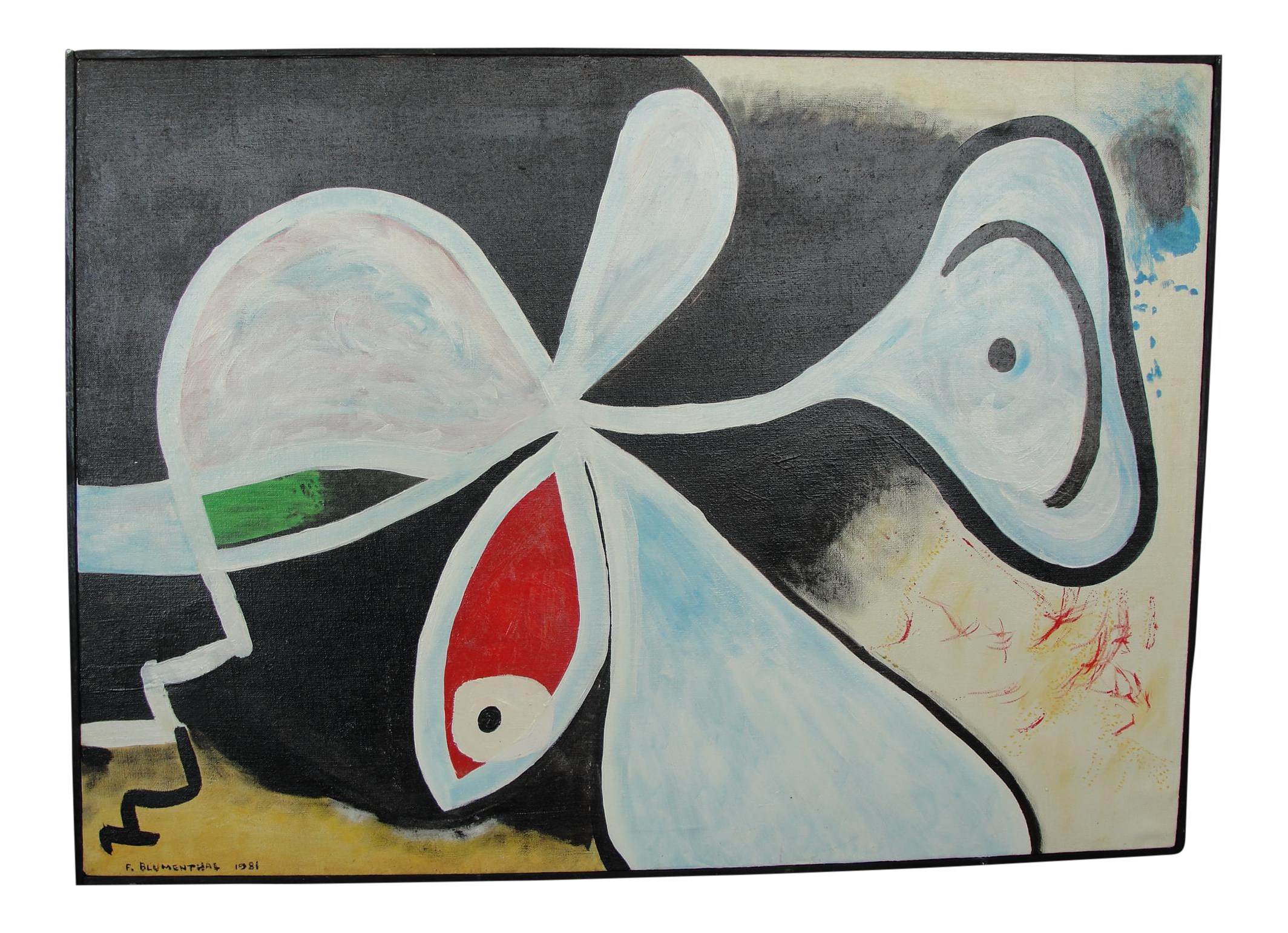 black and white library Vintage expressionist oil on. Drawing prints abstract