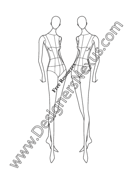vector Collection of free Drawing dresses figure