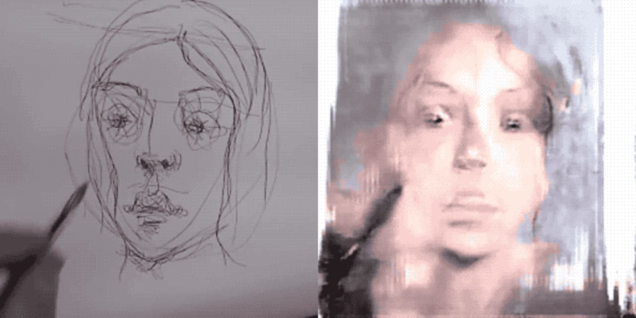 clipart Drawing ai. Watch this paint portraits