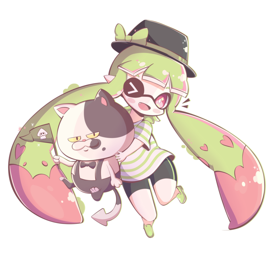banner black and white library Chibi Inkling Girl by Pokkiu on DeviantArt
