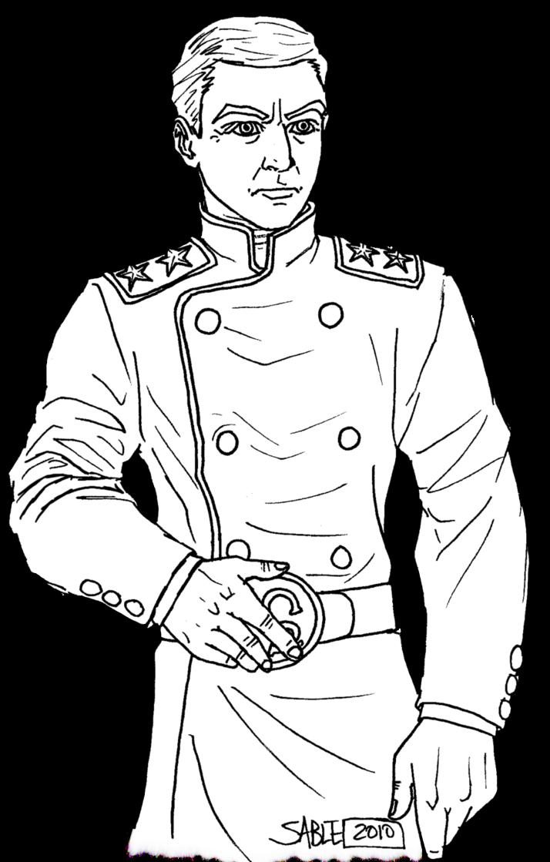 royalty free download Leyendecker drawing soldier. Military uniform line art