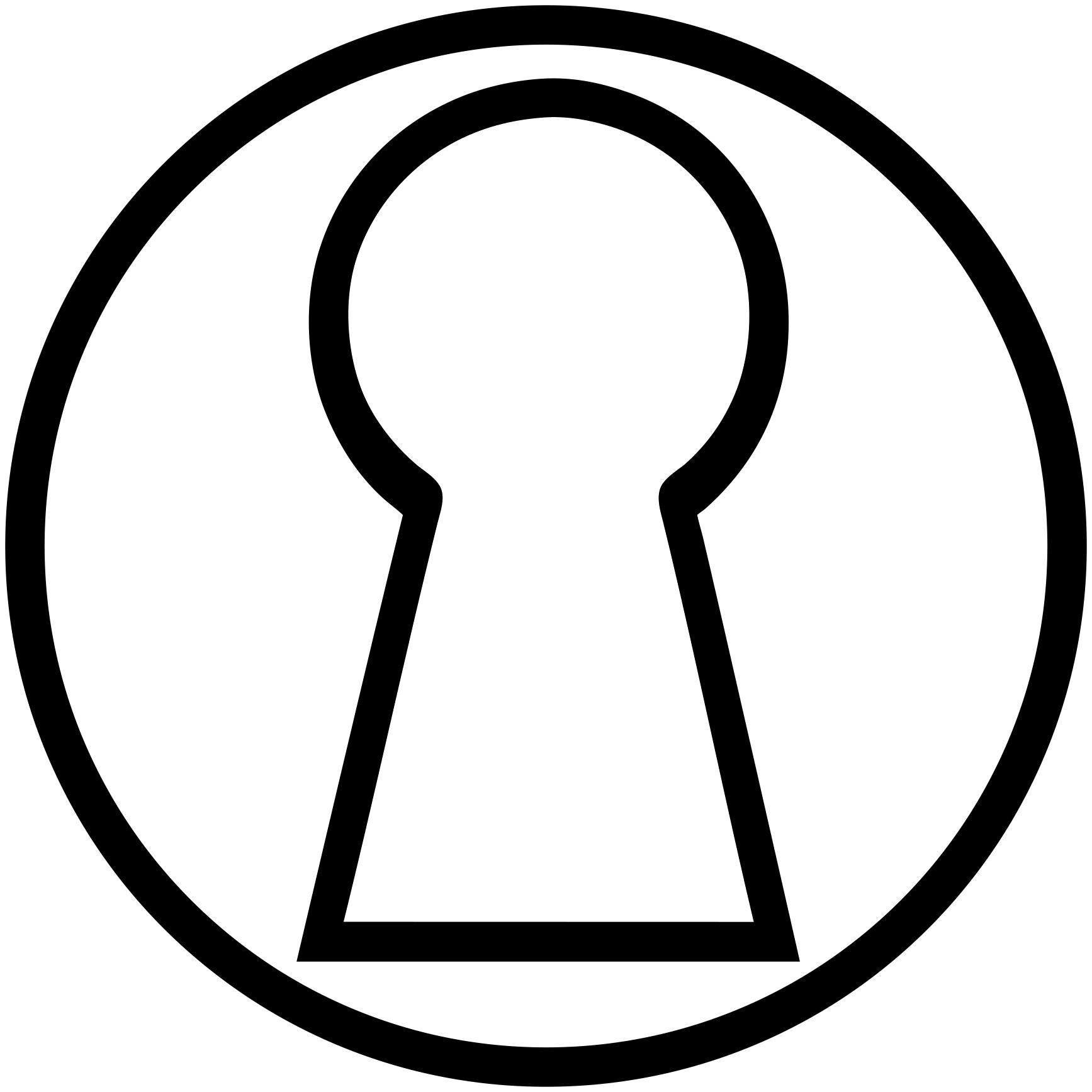 vector royalty free stock Keyhole Drawing at GetDrawings