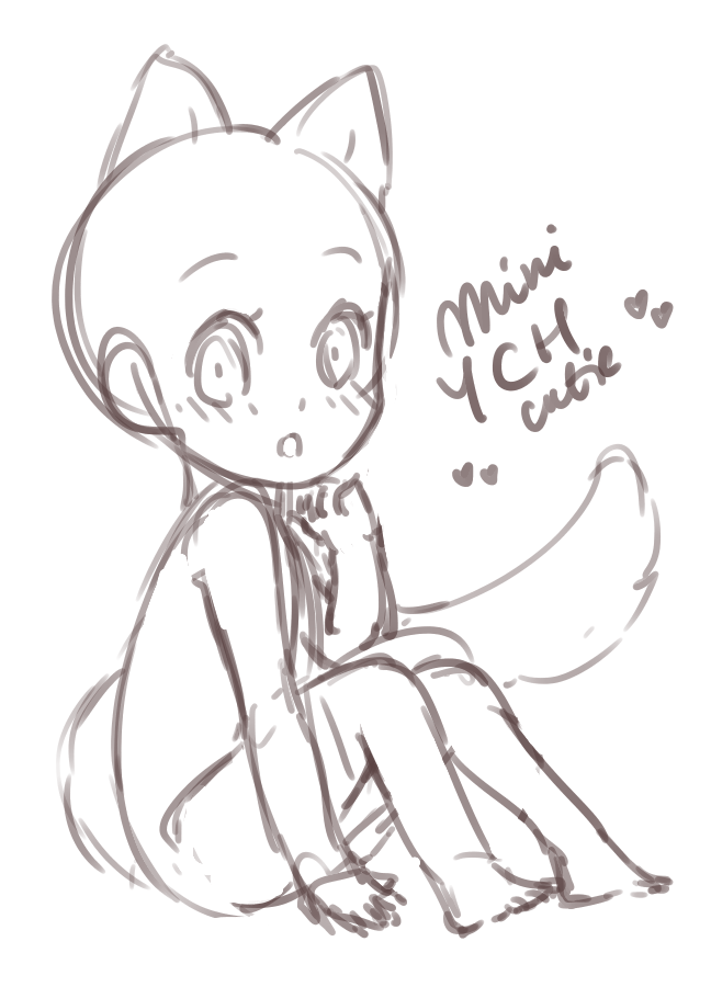 image transparent library Closed mini ych cutie. Drawing perspectives anime