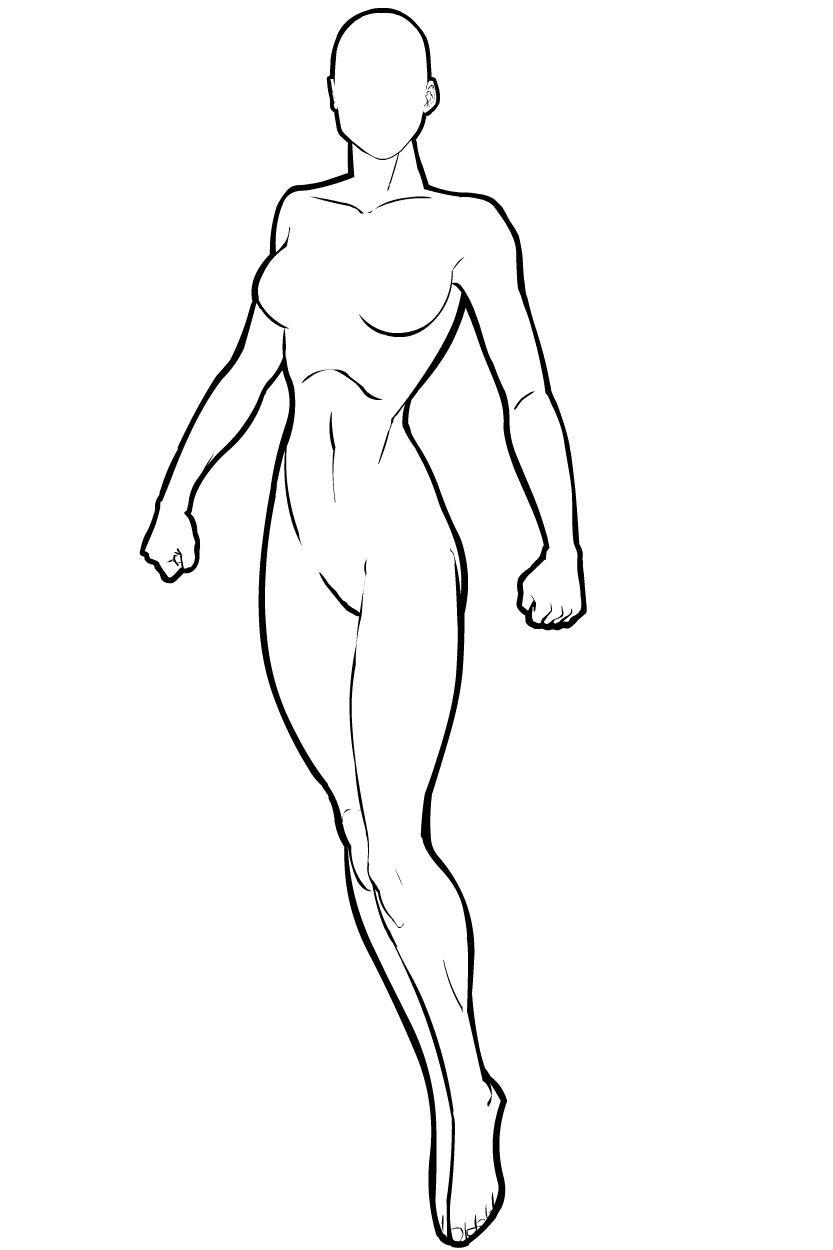 clip free Female superhero template b. Drawing running pose