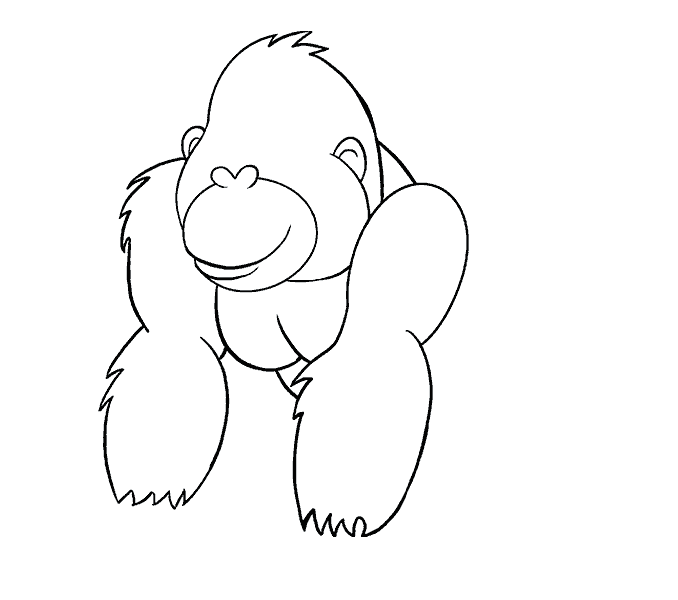 clip royalty free library How to Draw a Cartoon Gorilla in a Few Easy Steps