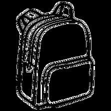 vector free library School bag at getdrawings. Luggage drawing simple