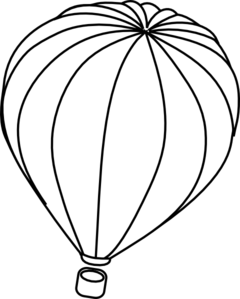 svg transparent library Hot Air Balloon Outline Clip Art at Clker
