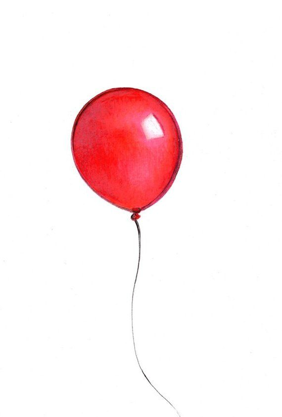 png library library Red art print of. Drawing balloon.
