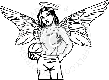 picture transparent download Womens Basketball Angel