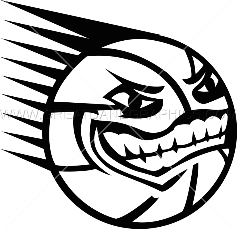 banner freeuse library Spiky Basketball With Face