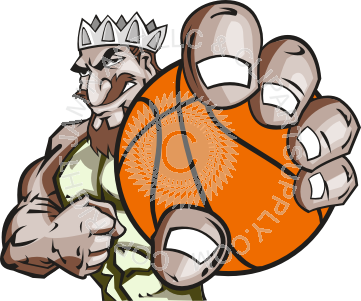 graphic free library King holding basketball