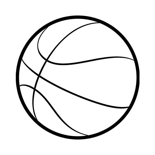 image royalty free library Basketball clip simple. Drawing at paintingvalley com