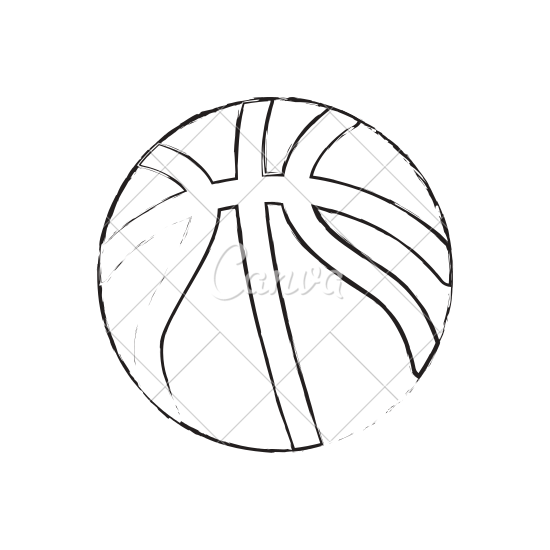 picture royalty free download Basketball Ball Drawing at GetDrawings
