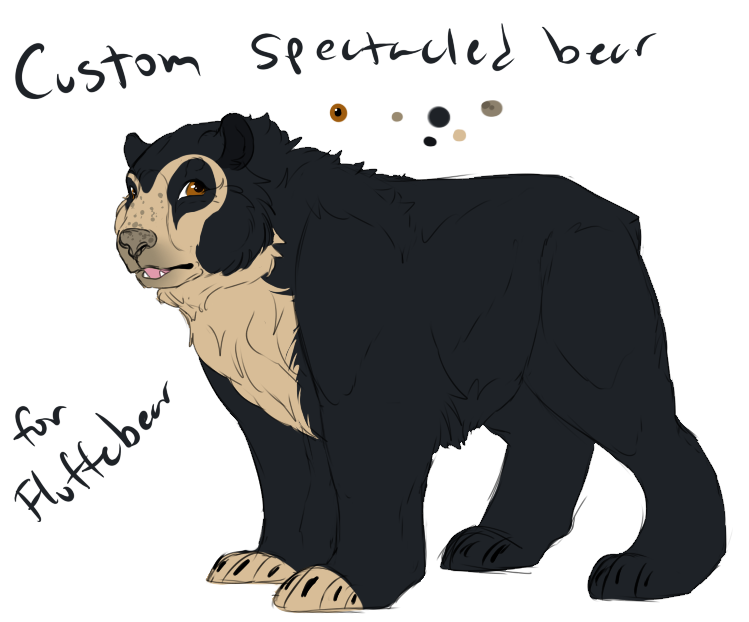 transparent library Custom Spectacled Bear by Amiookamiwolf on DeviantArt