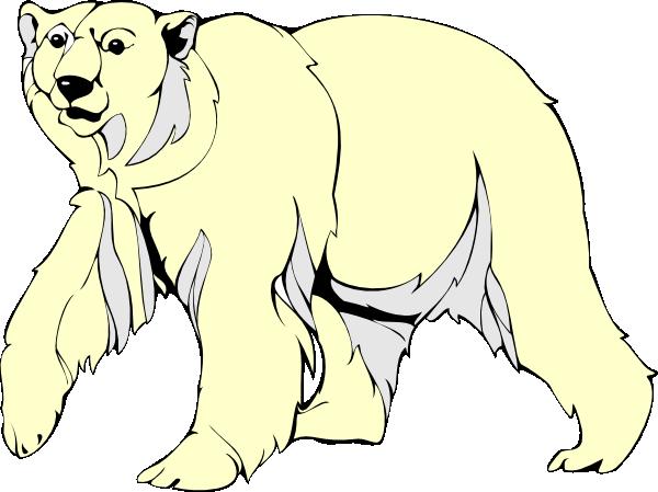 vector stock Polar Bear Walking Clip Art at Clker