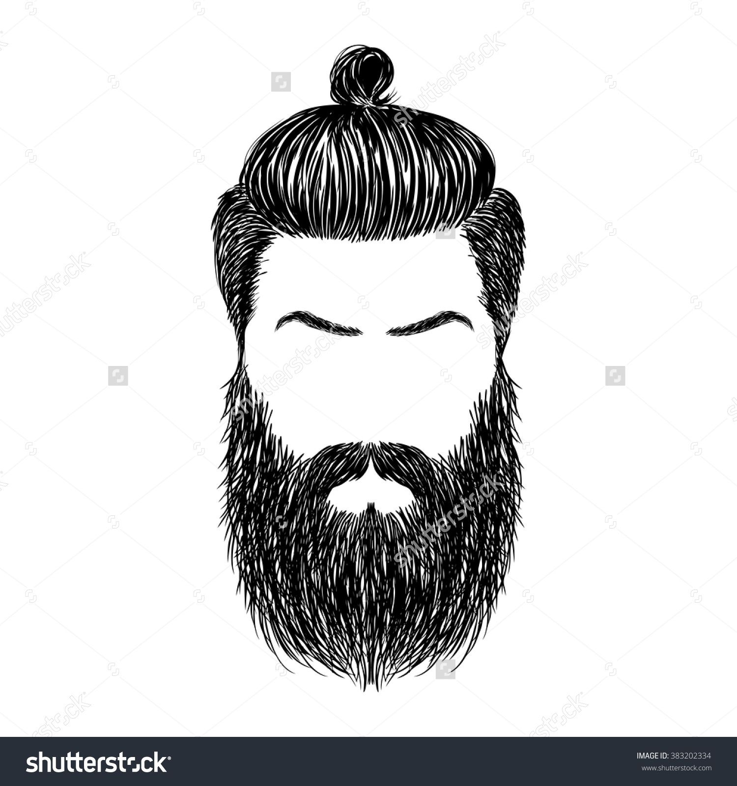 banner transparent Hand Drawn brutal hairstyles and beard