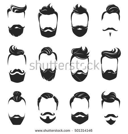 svg royalty free library Beard clipart stylish