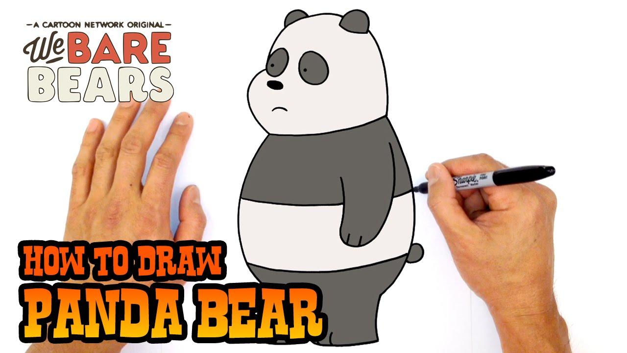 jpg black and white stock How to draw bear. Drawing bears panda