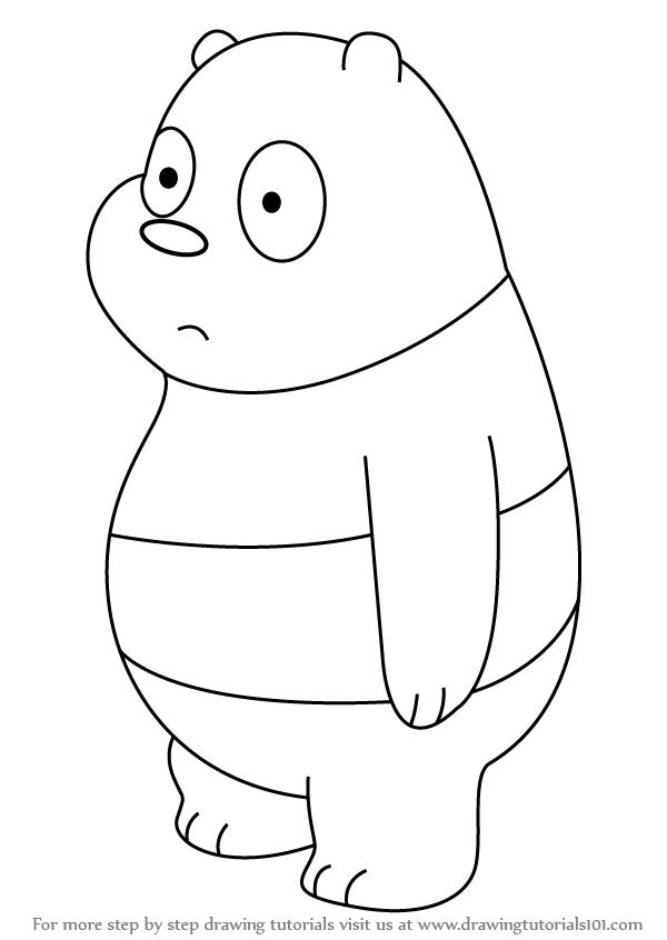 freeuse Drawing bears panda. Learn how to draw