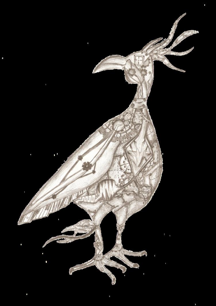 clip art transparent stock Mechanical Bird by thelazyminimilist on DeviantArt