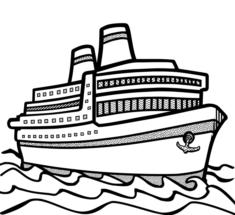 picture freeuse library Cruise ship boat watercraft. Boats drawing black and white