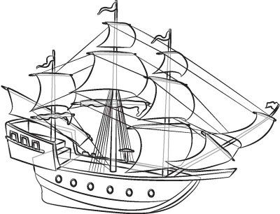 vector freeuse stock How to draw pirate. Boats drawing ship