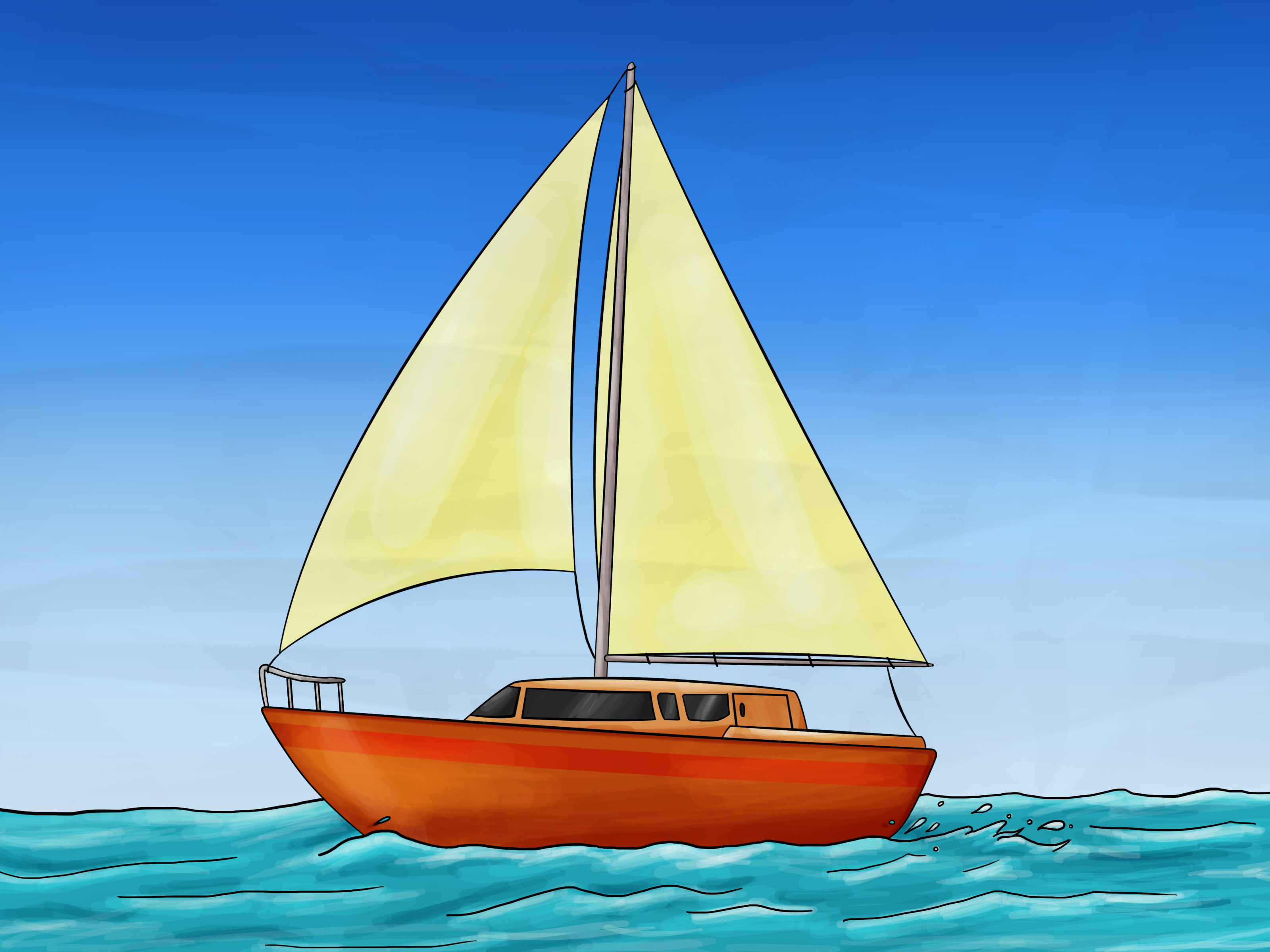 jpg transparent stock How to draw a. Boats drawing sailboat