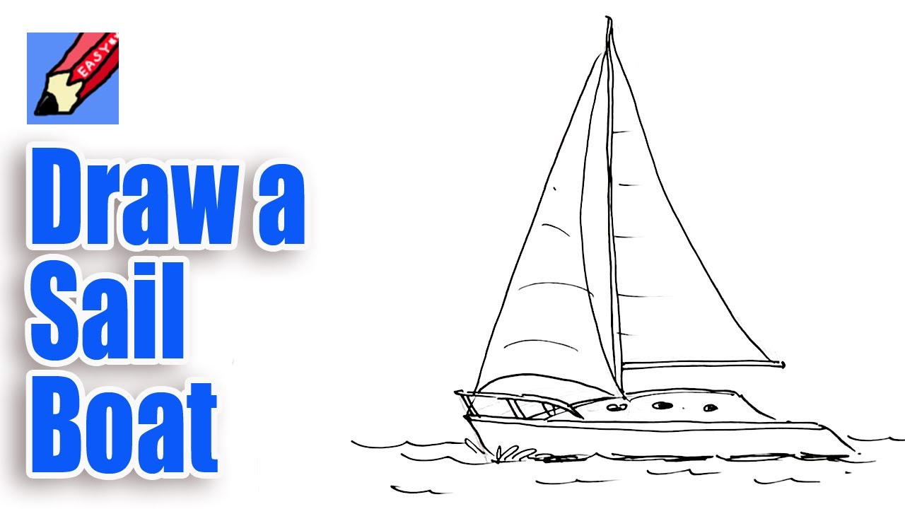 png black and white How to draw a. Boats drawing sailboat