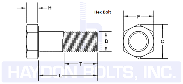 jpg freeuse download Drawing bolts hex bolt. Dimension haydon inc