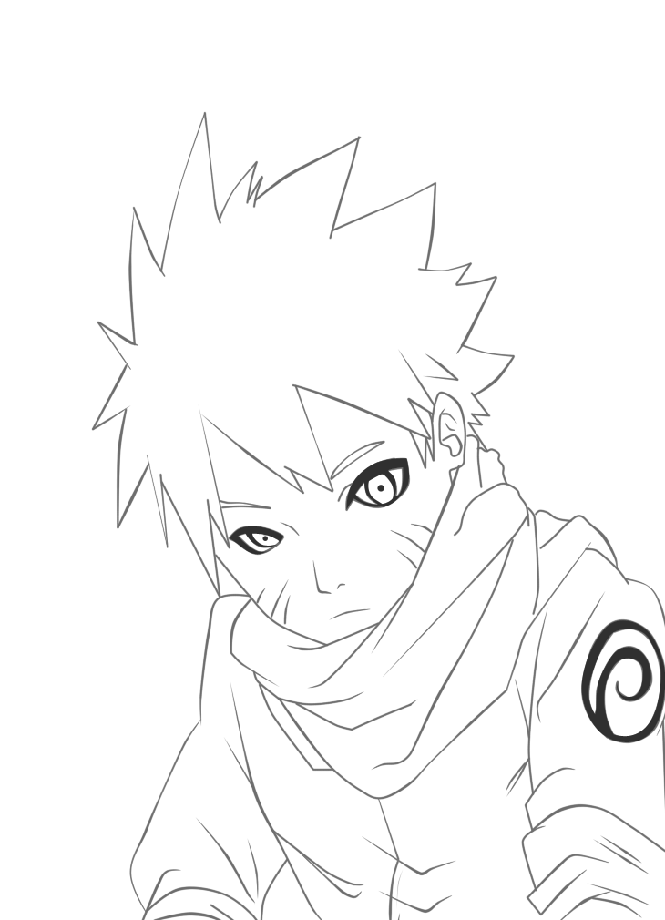 clip black and white download Naruto line art by Madnesssss on DeviantArt