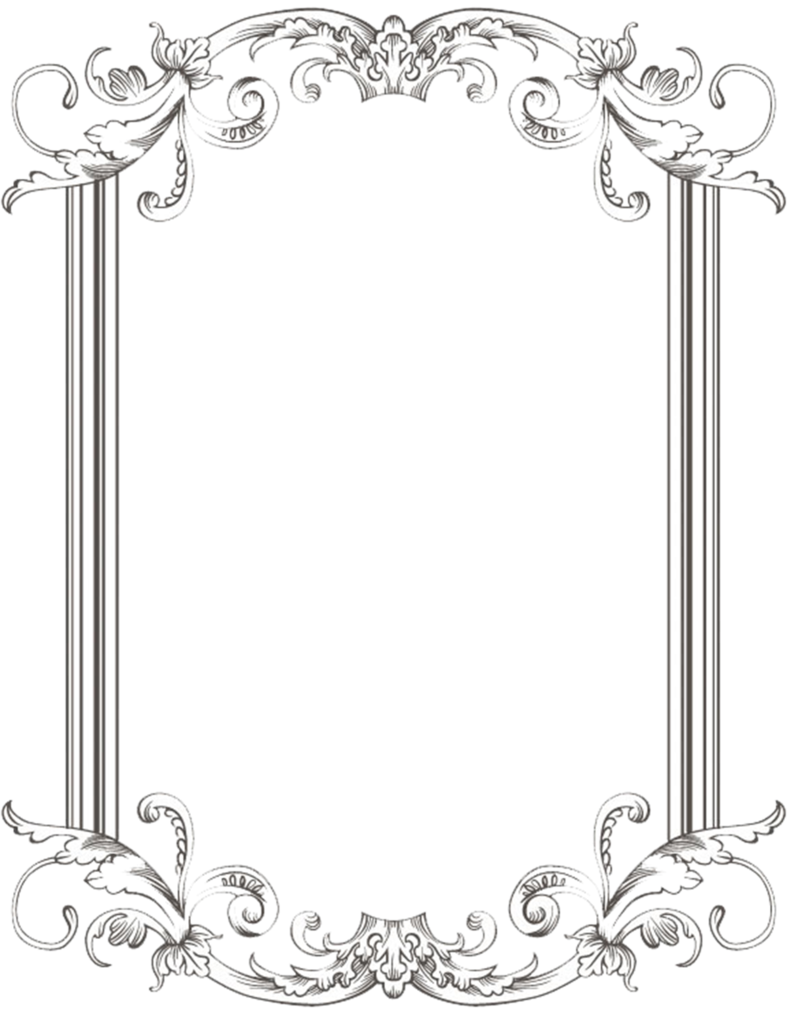 vector library Custom vintage frame one. Drawing borders classic