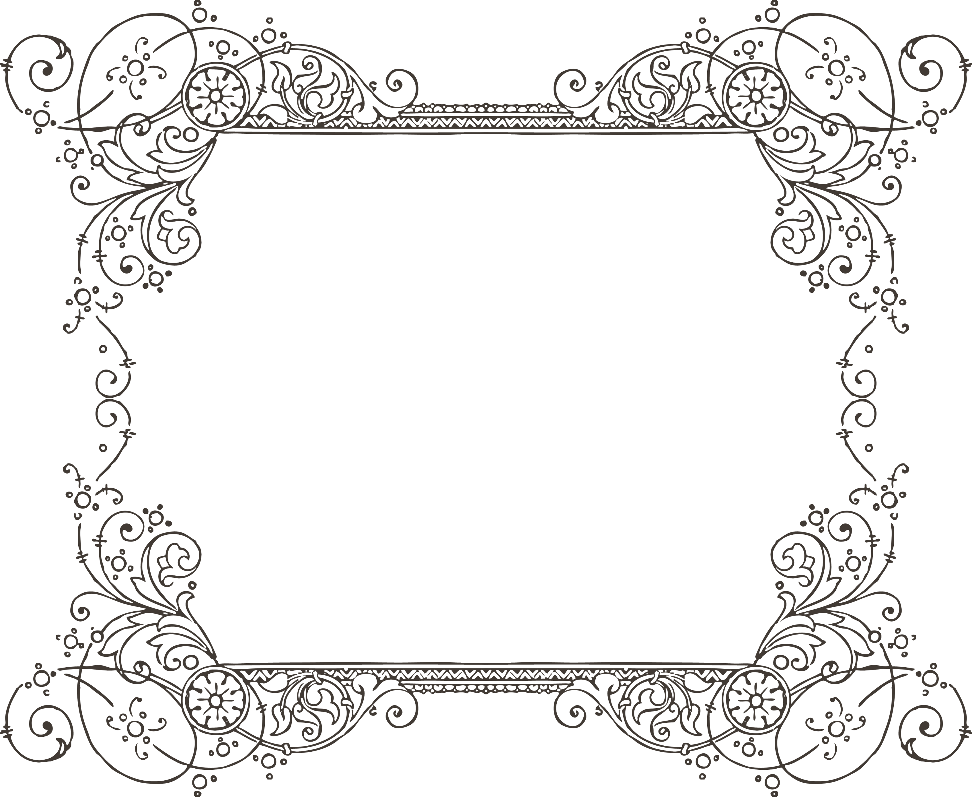 clipart free download Drawing borders classic. And frames picture calligraphic