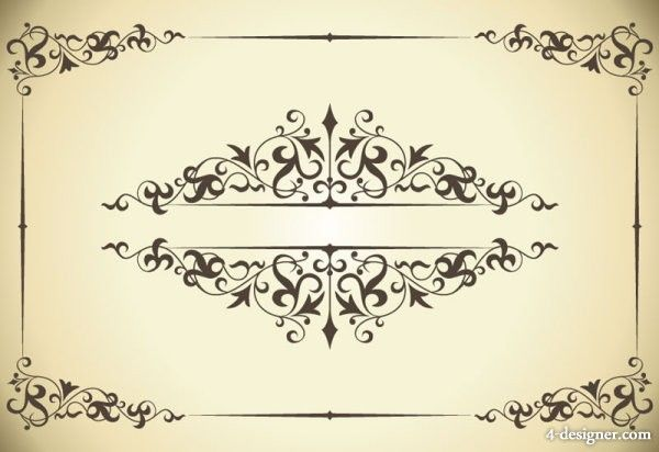image Drawing borders classic. Pattern border vector material