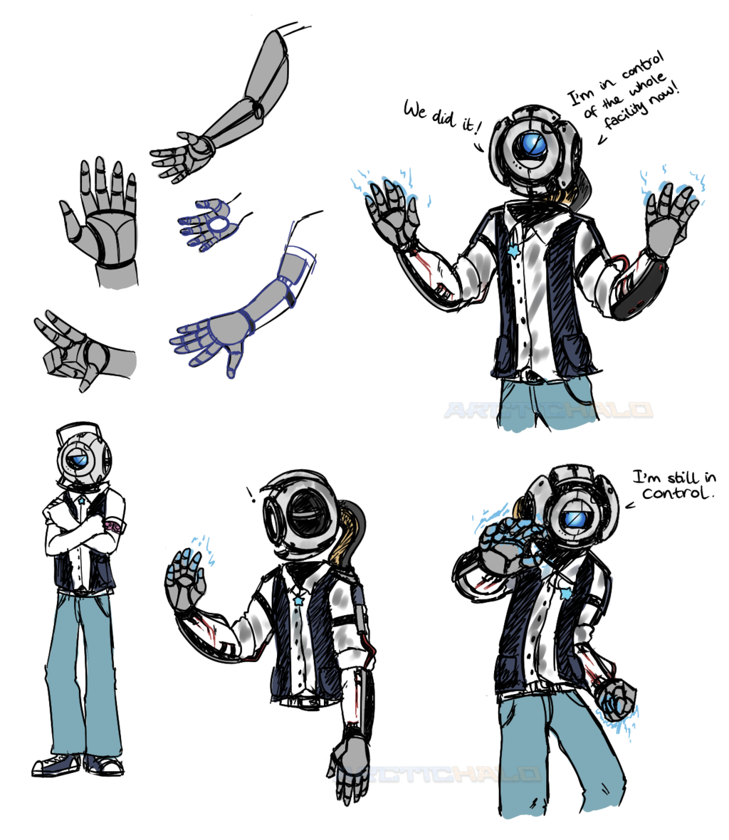 image free Anthrodroid Chassis Wheatley by ArcticHalo on DeviantArt