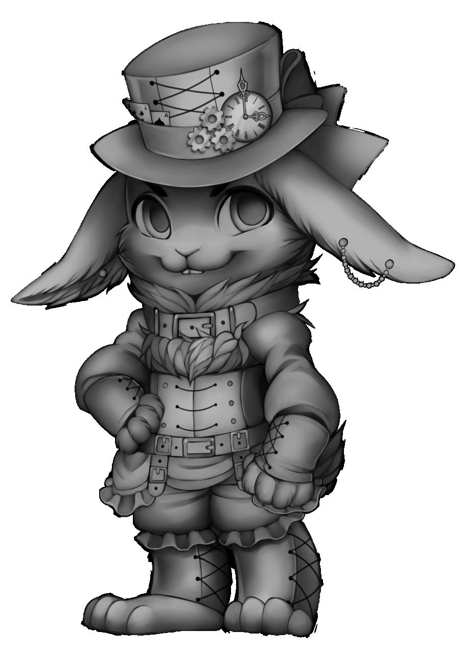 freeuse stock Valkyrie drawing steampunk. Furvilla olde foxbury rabbit