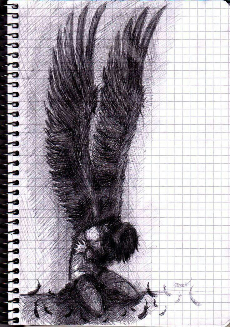 image black and white Drawing boy fallen angel. Pin by elleanor chadwick
