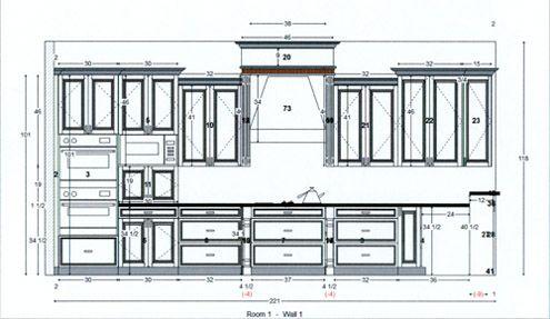 svg freeuse download Drawing cabinets. Kitchen cabinet design