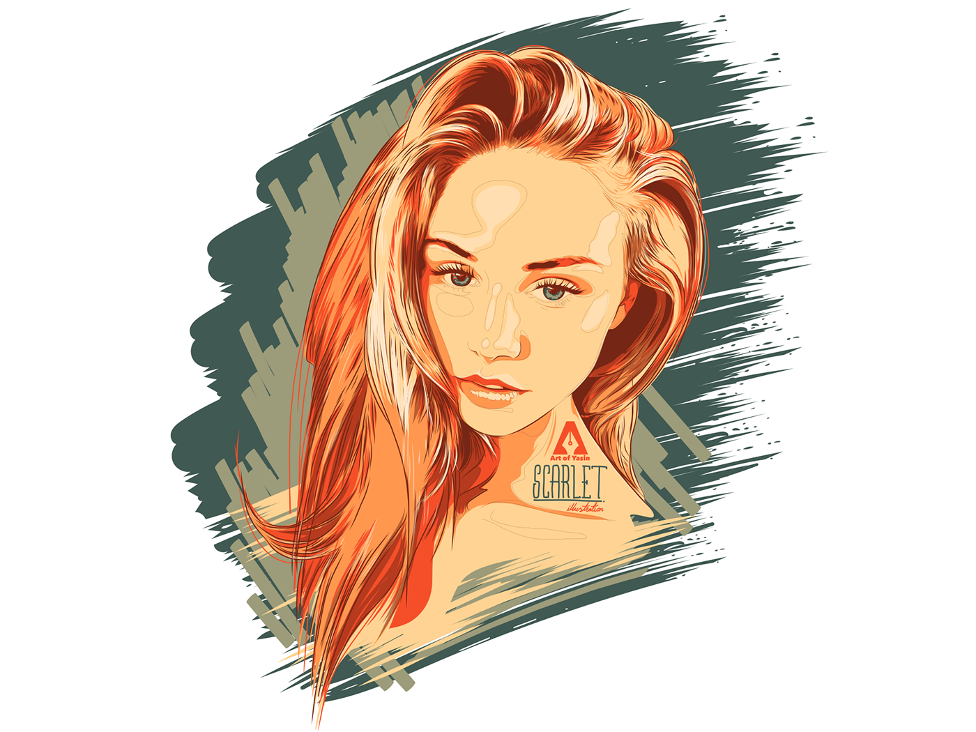 clip freeuse library Portraits part on behance. Drawing careers vector.