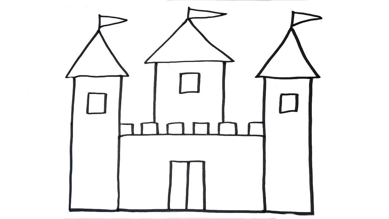graphic freeuse library Drawing castles. How to draw a