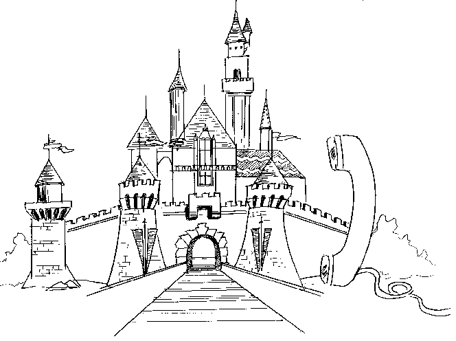 picture download Drawing charcoal castle. Buildings and architecture printable
